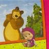 Салфетка Маша и Медведь 33см