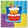 Салфетка Торт Birthday 33см, 12шт