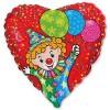 шар фольга клоун с шарами