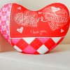 """Мягкая подушка-игрушка антистресс """"Сердце"""" I LOVE YOU"""
