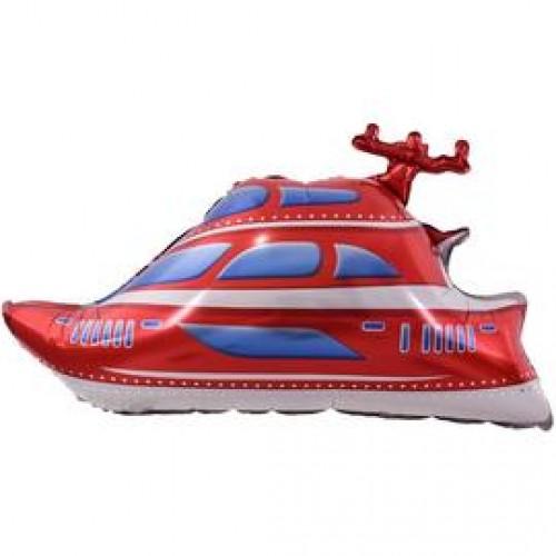 Шар фольгированный Фигура Яхта Красная 38''