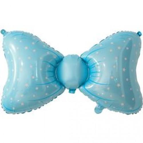 Шар фольгированный Фигура Бант Голубой 36''
