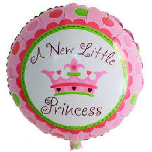 Шар фольгированный Круг корона маленькая принцесса