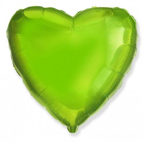 Шар фольгированный Сердце Лайм