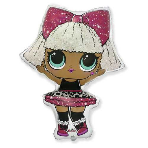 Шар фольгированный Фигура Кукла LOL Дива