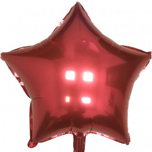 Шар фольгированный Звезда BURGUNDY