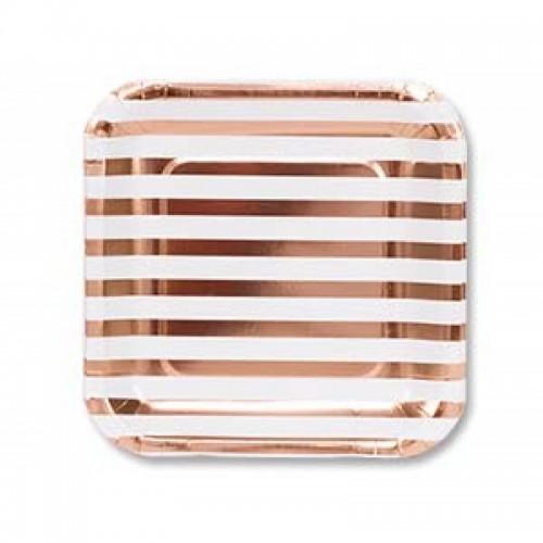 "тарелка ""розовое золото"""