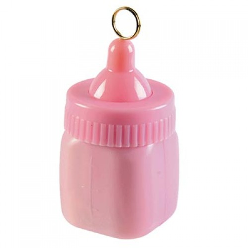 Грузик д/шара Бутылочка розовая