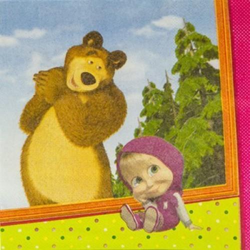 Салфетка Маша и Медведь 25см