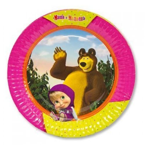 Тарелка Маша и Медведь 23см