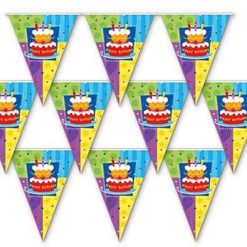 Гирлянда-Вымпел Торт Birthday 360см