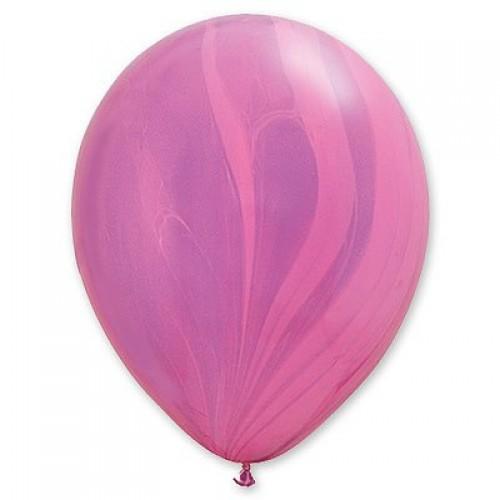 """Шар гелиевый Q 11"""" Супер Агат Pink Violet"""