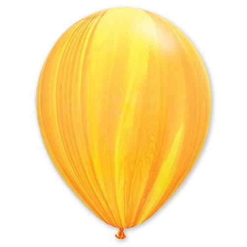 "Шар гелиевый Q 11"" Супер Агат Yellow Orange"