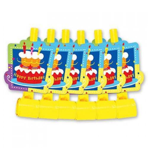 Язык-Гудок Торт Birthday, 6шт