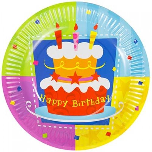 Тарелка Торт Birthday 17см, 6шт