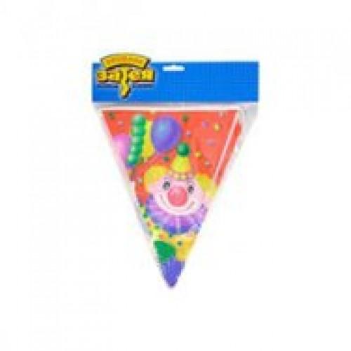 Гирлянда-вымпел Клоун с шарами