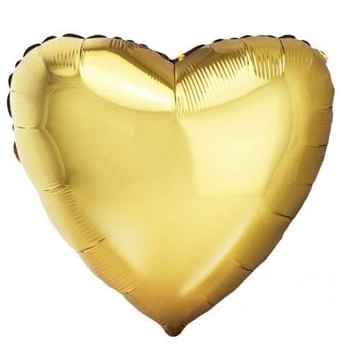 Шар сердце голд