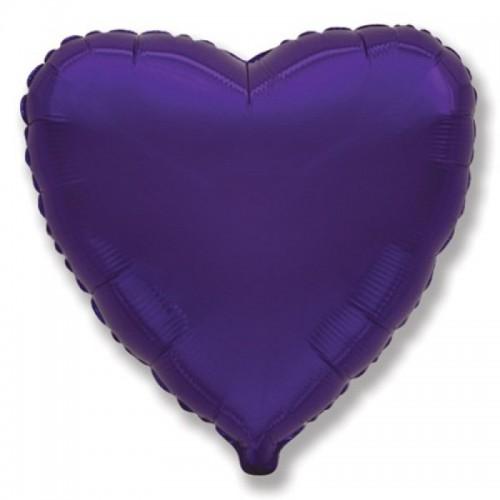 Шар сердце фиол
