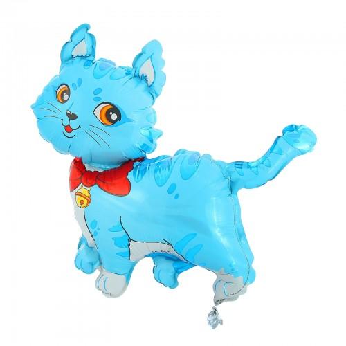 шар кошечка голубая с шарфом