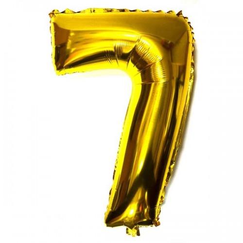 Шар цифра 7 Золото