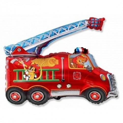 Шар фольга Пожарная машина