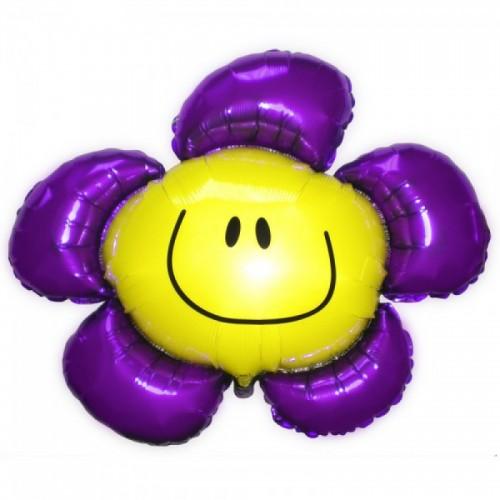 Шар фольга Цветок Фиолетовый