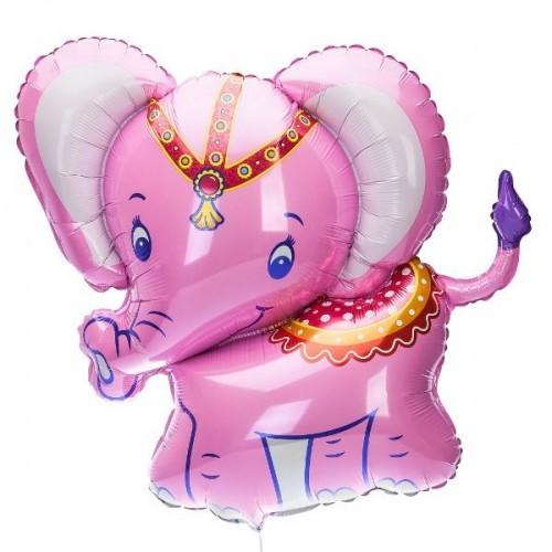 Шар фольга Розовый слоник