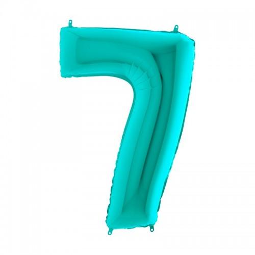 Шар фольга цифра 7 Тиффани