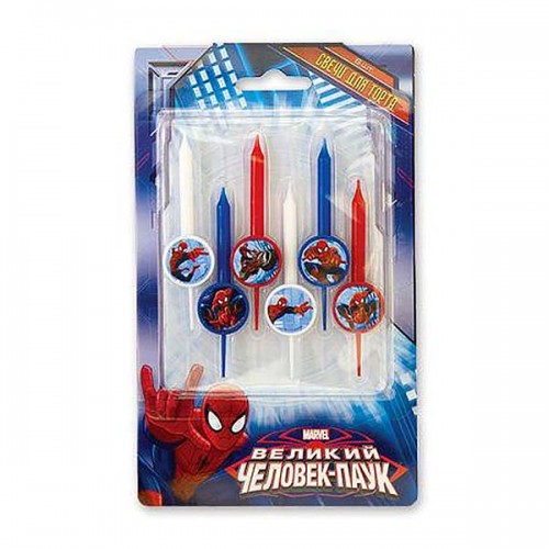 Свечи д/торта Marvel Человек Паук