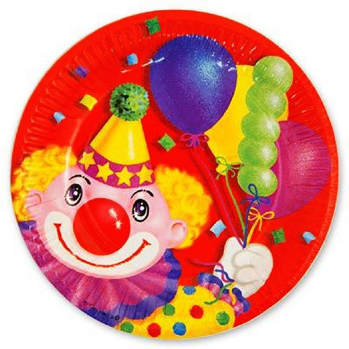 Набор тарелок Клоун с шарами