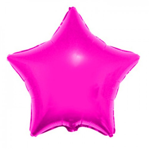 Шар фольга Звезда PINK